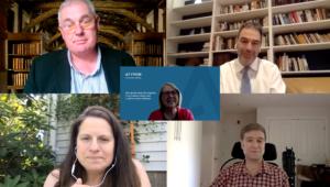Panel speakers Ken Ferris, Richard Wynne, Nettie Lagace, Bruce Rosenblum, Dorothy Hoskins